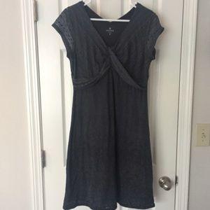 Athleta Grey/Black Patterned Cotton Dress